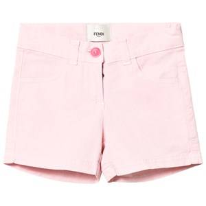 Fendi Girls Shorts Pink Pink Branded Badge Shorts