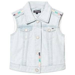 Tommy Hilfiger Girls Coats and jackets Blue Blue Bleached Denim Vest