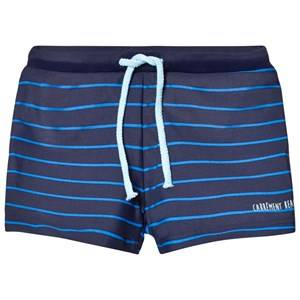Carrément Beau Boys Swimwear and coverups Navy Navy and Blue Stripe Swim Shorts