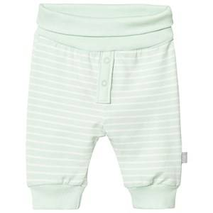 Hust&Claire; Boys Bottoms Green Striped Jersey Trousers Milk Green