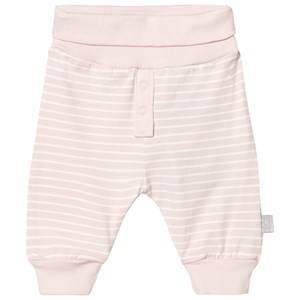 Hust&Claire; Girls Bottoms Pink Striped Jersey Trousers Soft Rosé