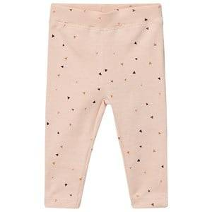 Petit by Sofie Schnoor Girls Bottoms Orange Leggings Triangle Print Pink