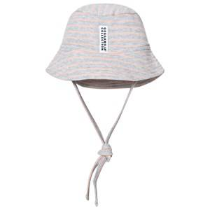Geggamoja Girls Headwear Pink Sunny Hat Light Grey Melange Peach