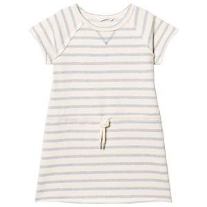eBBe Kids Girls Dresses Blue Sally Sweat Dress Blue Fog Stripes