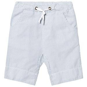eBBe Kids Boys Shorts Blue Joel Low Crotch Shorts Off White/Blue Stripes