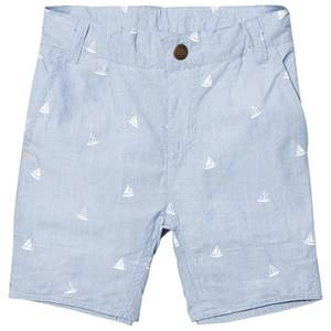 eBBe Kids Boys Shorts Blue Conan Chino Shorts Tilting Boats