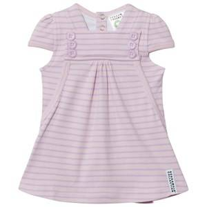 Geggamoja Girls Dresses Pink Summer Button Dress Soft Pink Lilac