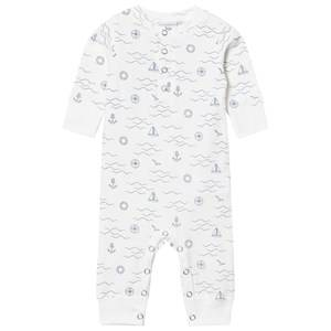 eBBe Kids Unisex All in ones White Malm One-Piece Navy Waves