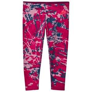 NIKE Girls Bottoms Pink Pink Graphic Print Crop Leggings