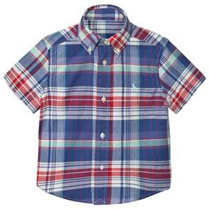 Ralph Lauren Boys Tops Multi Blue Red Madras Check Shirt