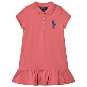 Ralph Lauren Girls Dresses Pink Pink Big Pony Polo Dress