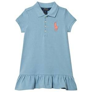 Ralph Lauren Girls Dresses Blue Blue Big Pony Polo Dress