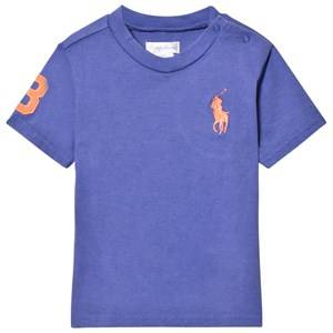 Ralph Lauren Boys Tops Blue Blue Big Pony Tee