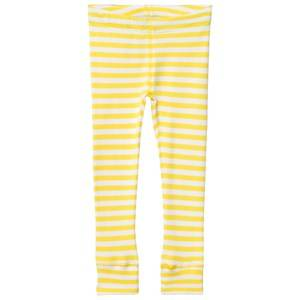 Anïve For The Minors Unisex Bottoms Yellow Leggings Happy Yellow/White Stripes