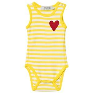 Anïve For The Minors Unisex All in ones Yellow Baby Body Happy Yellow/White Stripes