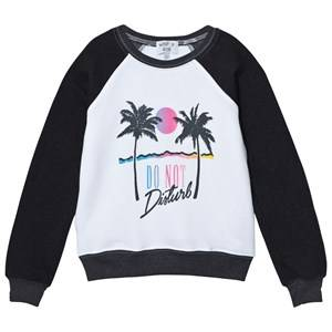 Wildfox Girls Jumpers and knitwear Black Black and White Raglan Do No Disturb Print Sweater