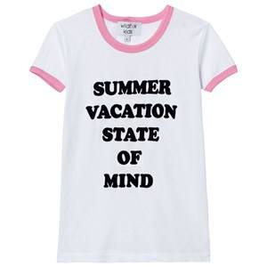 Wildfox Girls Tops White White and Pink School