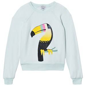 Wildfox Girls Jumpers and knitwear Green Mint Bird of Paradise Sweater