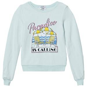 Wildfox Girls Jumpers and knitwear Green Mint Green Paradise Print Baggy Beach Jumper