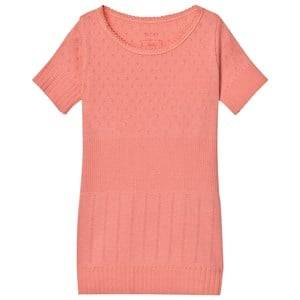 Noa Noa Miniature Girls Tops Pink Doria Mini Basic T-Shirt Strawberry Ice