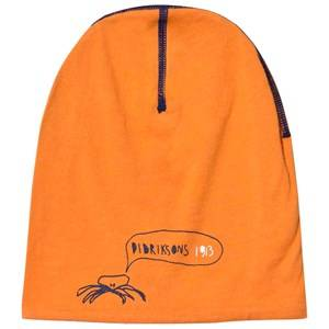 Didriksons Unisex Headwear Orange Musslan Kids Reversible Beanie Glow