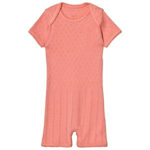 Noa Noa Miniature Girls All in ones Pink Doria Basic Romper Strawberry Ice