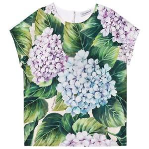 Dolce & Gabbana Girls Tops Green Printed Cotton Top