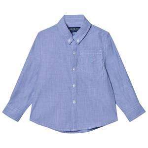 Andy & Evan Boys Tops Blue Blue Chambray Button Down Shirt
