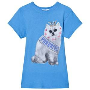 Wildfox Girls Tops Blue Blue Purrfect Cat Print Tee