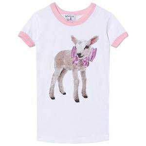 Wildfox Girls Tops White White Little Lamb Vintage Tee