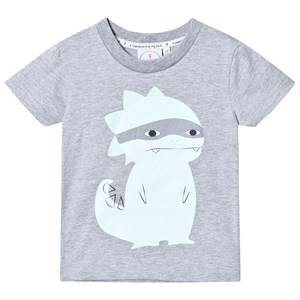 Scamp & Dude Unisex Tops Grey Super Marl T-Shirt – Super Dino
