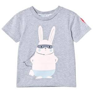 Scamp & Dude Unisex Tops Grey Super Marl T-Shirt – Super Bunny