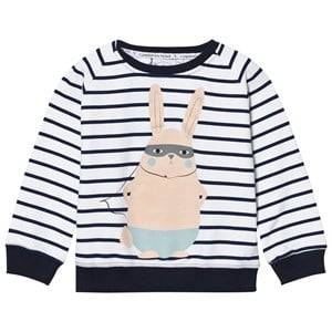 Scamp & Dude Unisex Jumpers and knitwear Navy Chilled Fit Sweatshirt – Navy/White Breton Bunny
