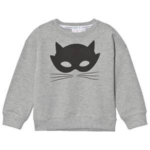 Scamp & Dude Unisex Jumpers and knitwear Grey Chilled Fit Sweatshirt – Grey Marl Cat Mask