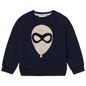 Scamp & Dude Unisex Jumpers and knitwear Navy Cool Kid Sweatshirt – Navy Blue Balloon Man