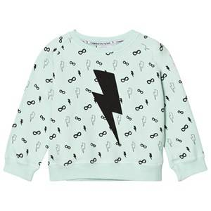Scamp & Dude Unisex Jumpers and knitwear Green Cool Kid Sweatshirt – Lightning Bolt Pale Green
