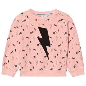 Scamp & Dude Unisex Jumpers and knitwear Pink Cool Kid Sweatshirt – Lightning Bolt Peach
