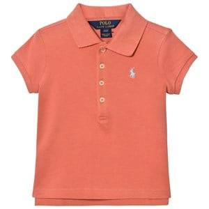 Ralph Lauren Boys Tops Pink Stretch Mesh Short-Sleeve Polo Salmon Berry