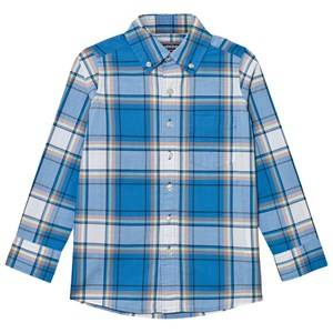 Lands End Boys Tops Blue Blue Poplin Shirt
