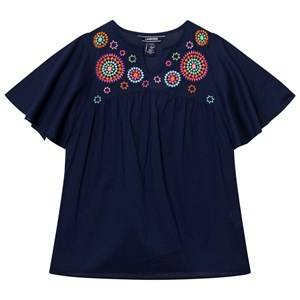 Lands End Girls Swimwear and coverups Navy Navy Lush Tropics Woven Cover Up