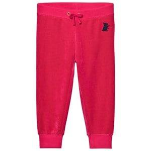 Juicy Couture Girls Bottoms Pink Fuchsia Velour Track Pants