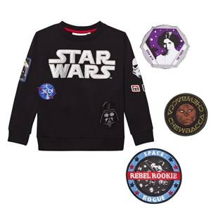 Fabric Flavours Boys Jumpers and knitwear Black Star Wars Interchangeable Patch Sweatshirt