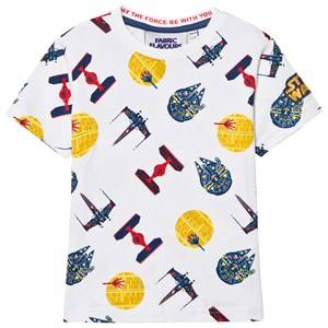Fabric Flavours Boys Tops White Star Wars Transporter Tee