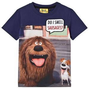 Fabric Flavours Boys Tops Navy Do I Smell Sauasages T-shirt