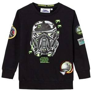 Fabric Flavours Boys Jumpers and knitwear Black Death Trooper Patch Sweatshirt