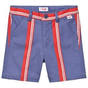 Il Gufo Boys Shorts Red Red and Blue Stripe Shorts