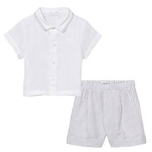 Il Gufo Boys Clothing sets Grey Grey Linen Shirt and Shorts Set