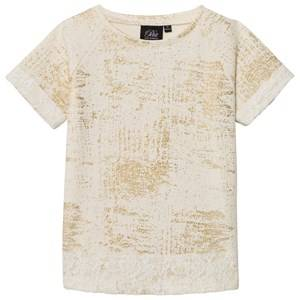 Petit by Sofie Schnoor Girls Tops Cream T-Shirt Off-White Gold