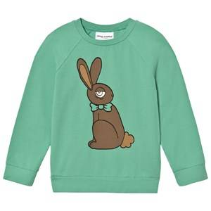 Mini Rodini Unisex Tops Green Rabbit Long Sleeve Tee Green