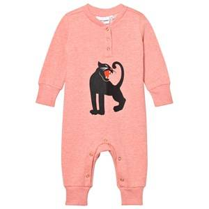 Mini Rodini Girls All in ones Pink Panther Onesie Pink Melange